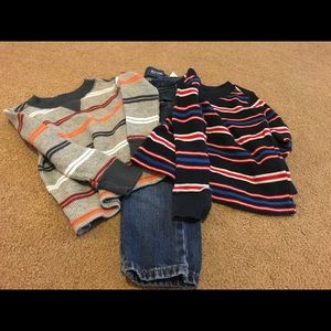 3 piece set old Navy boy 18-24 mo jeans and shirts